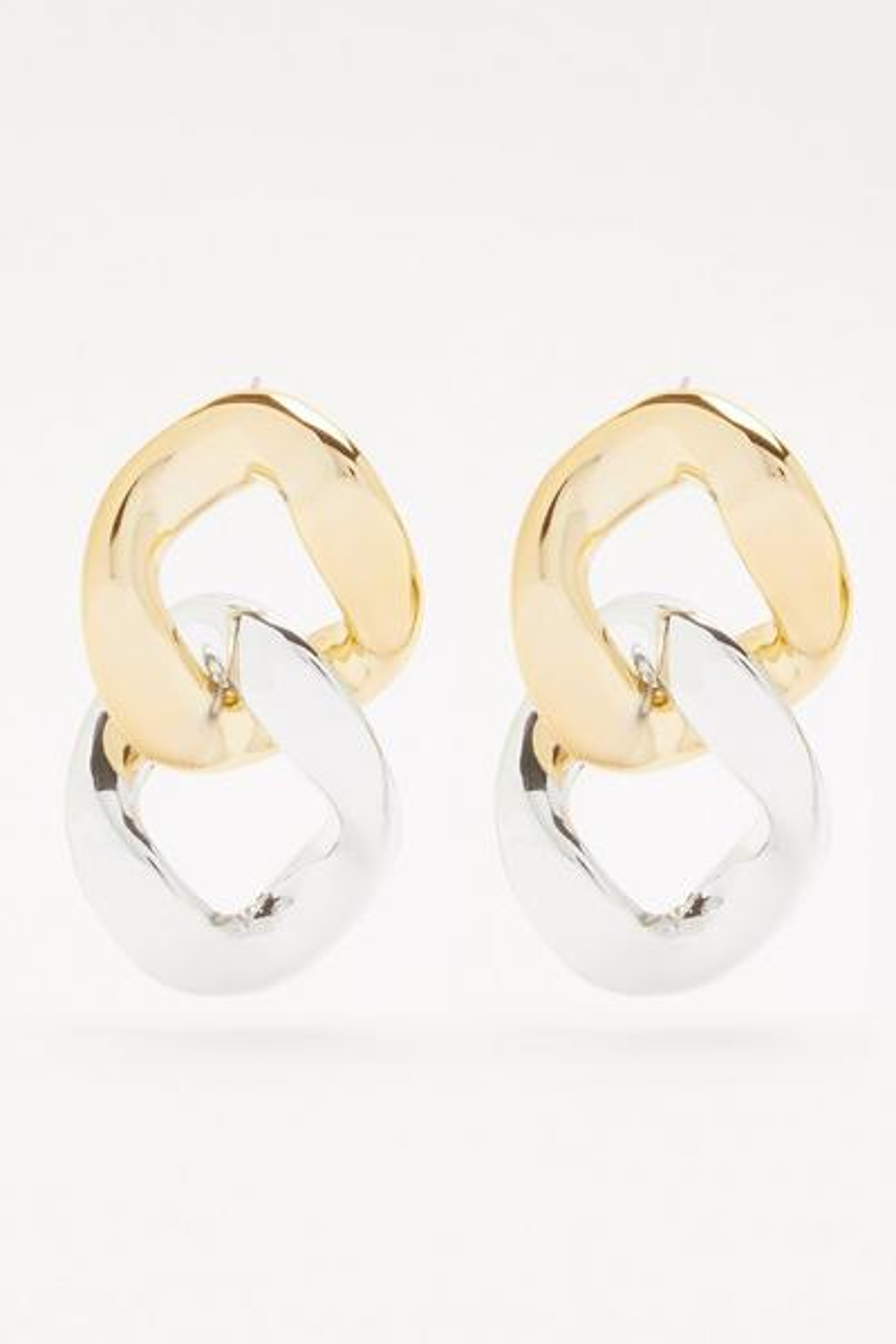 Silver Chain Drop Earrings
