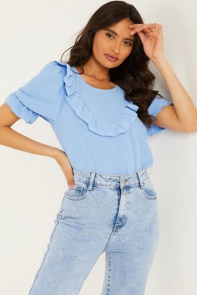 Blue Frill T Shirt