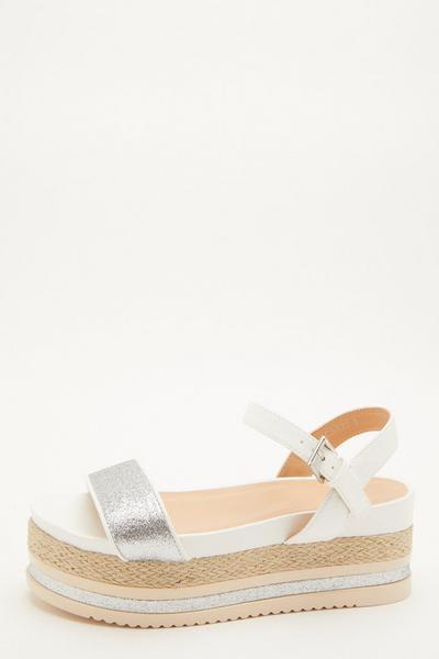 White Shimmer Flatform