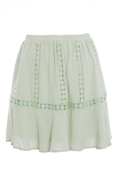 Sage Crochet Skater Skirt