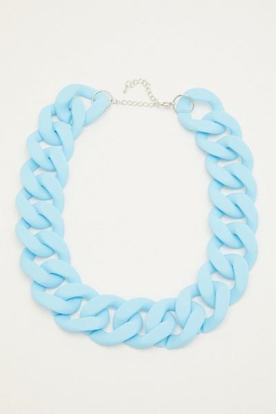Blue Chunky Chain Necklace