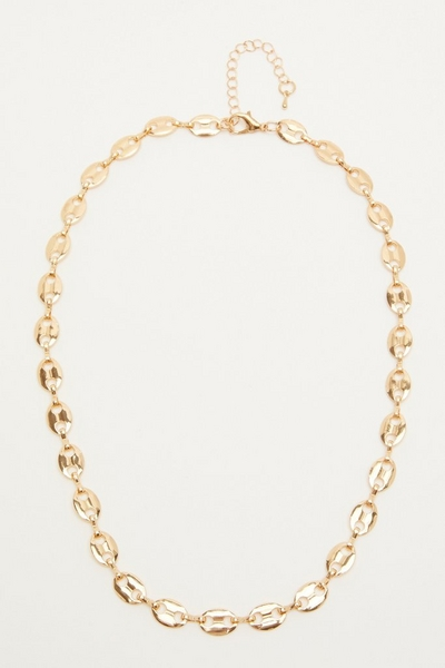 Gold Oval Link Necklace
