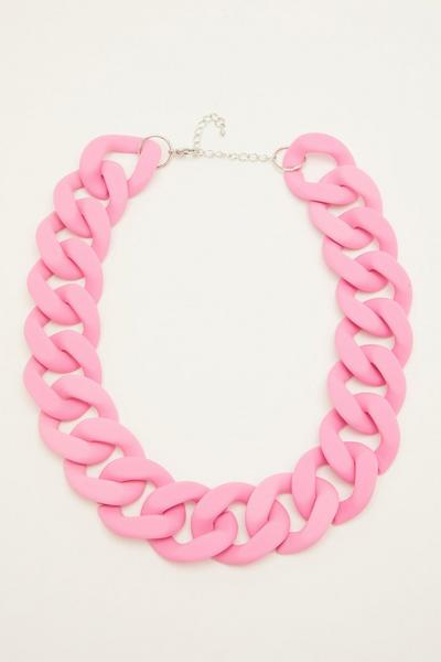 Pink Chunky Chain Necklace