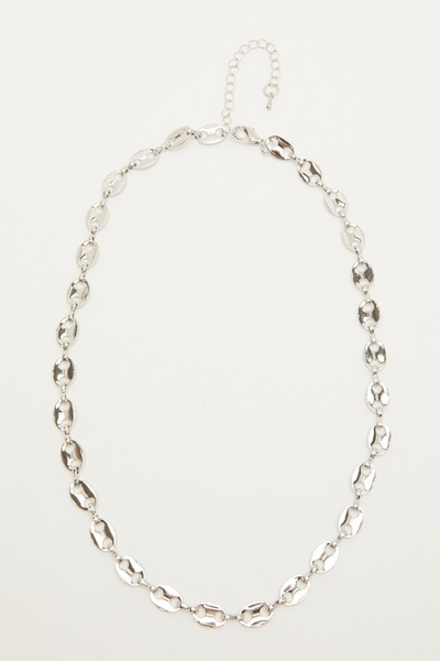 Silver Oval Link Necklace