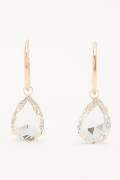 Gold Jewel Drop Earrings