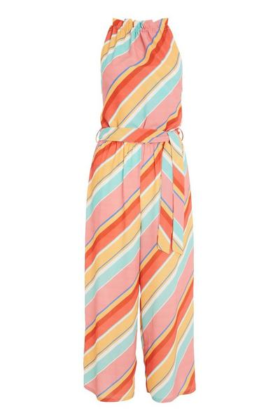 Multicoloured Stripe Jumpsuit