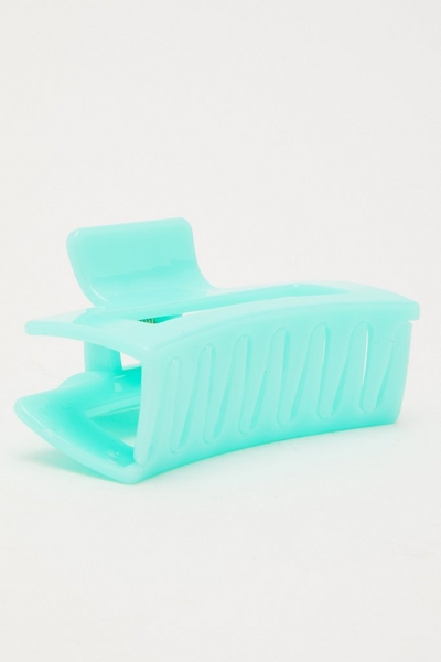 Mint Rectangle Hair Claw