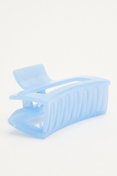 Blue Rectangle Hair Claw