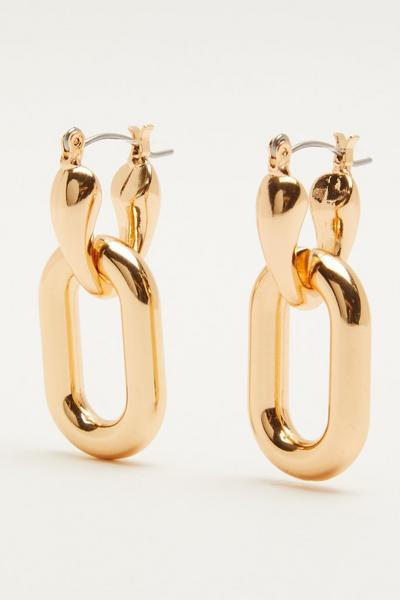 Gold Chunky Drop Earring