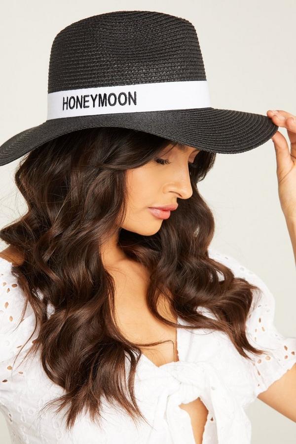 Bridal Black Fedora Hat