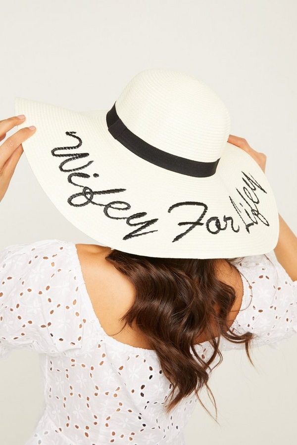 Bridal Cream Straw Hat