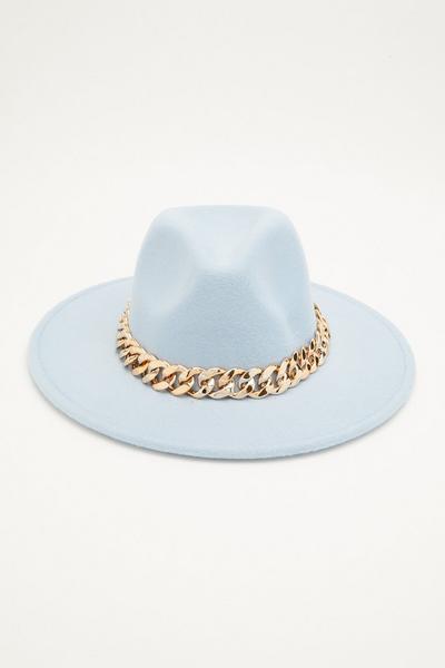 Blue Chain Fedora Hat