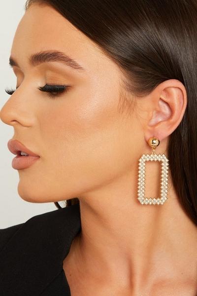 Gold Diamante Drop Earring