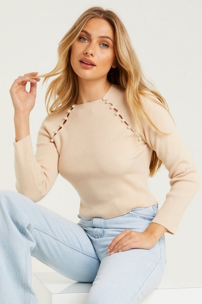 Stone Pearl Knitted Jumper
