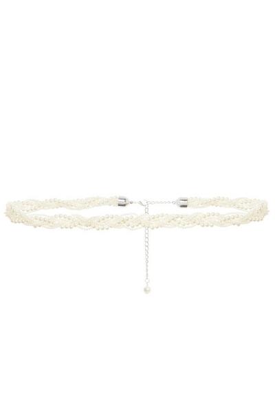 White Pearl Twisted Belt