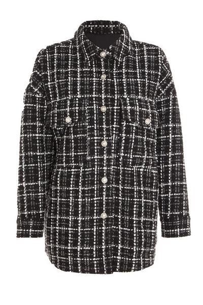 Black Tweed Shacket
