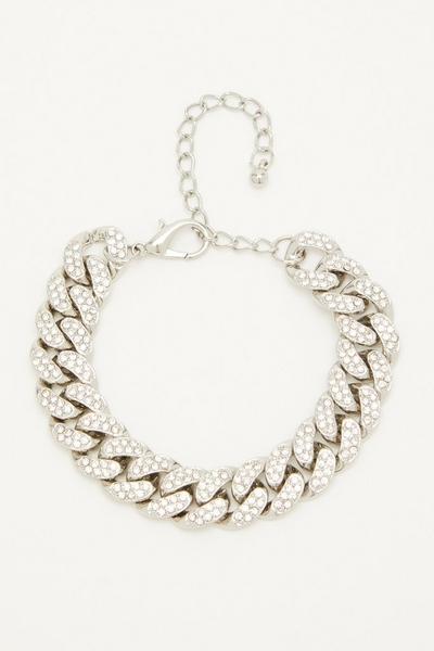 Silver Diamante Chain Bracelet