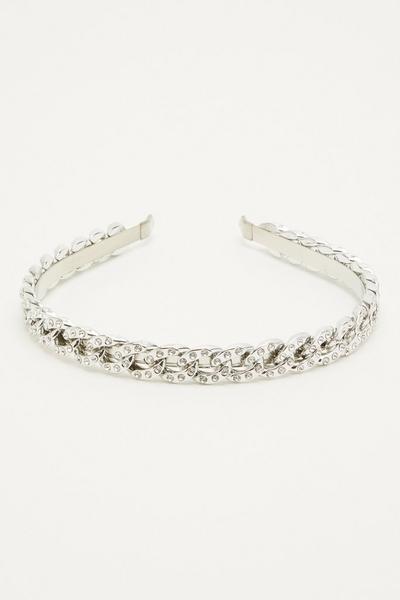 Silver Diamante Chain Headband