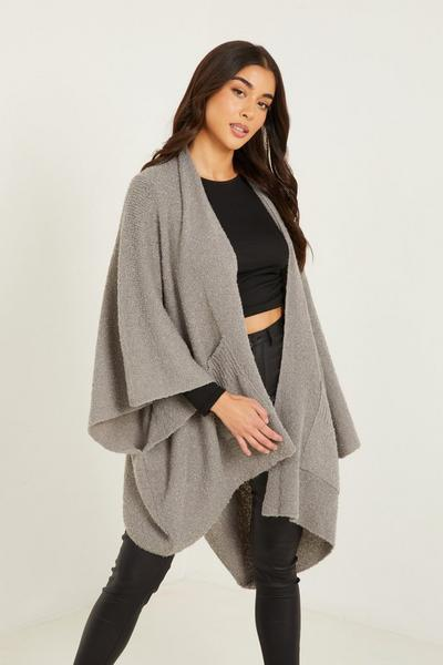 Grey Cape with Pockets