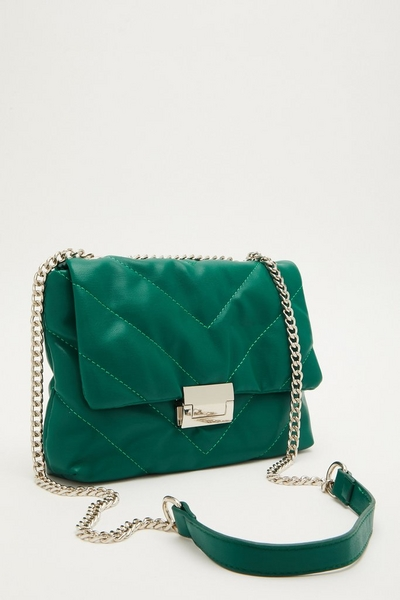 Green Quilted Bag