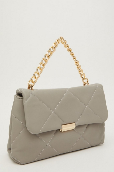 Grey Quilted Bag