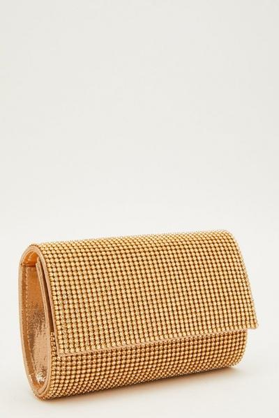 Gold Diamante Bag