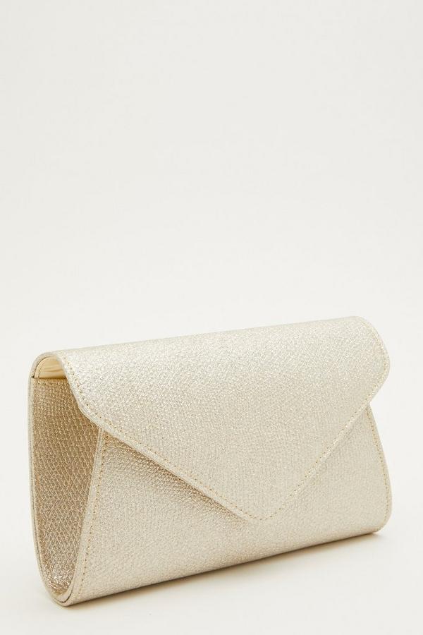 Gold Textured Clutch Bag