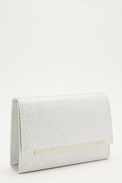 Silver Shimmer Cross Body Bag