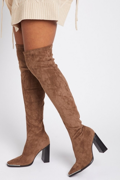 Mocha Over The Knee Boots