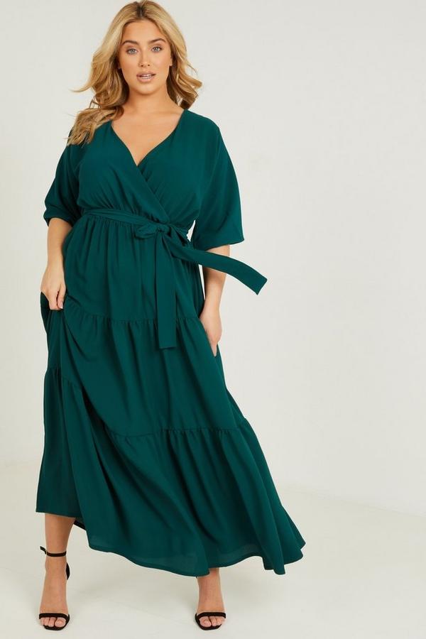 Curve Green Smock Maxi Dress