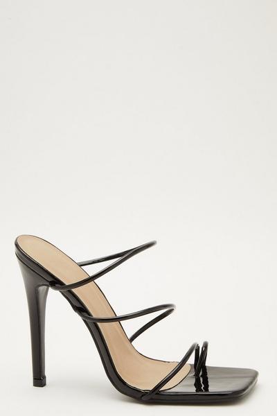 Black Strappy Heeled Sandal