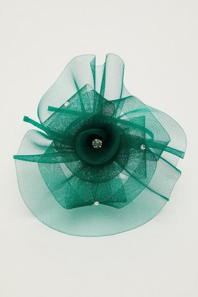 Green Jewel Headband Fascinator