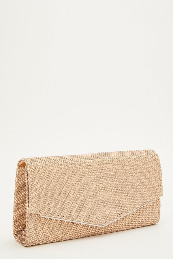 Rose Gold Shimmer Envelope Bag