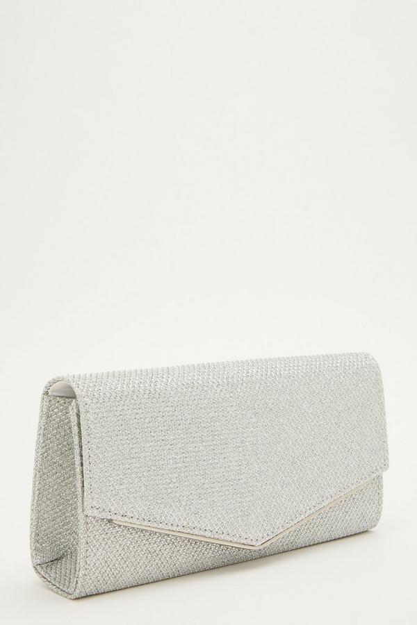 Silver Shimmer Envelope Bag