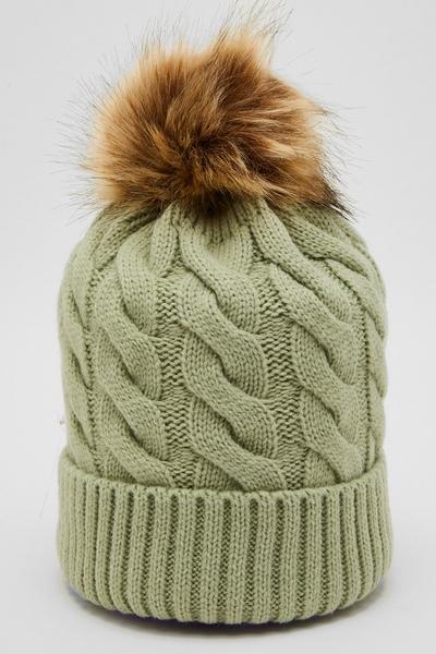 Sage Knit Pom Hat