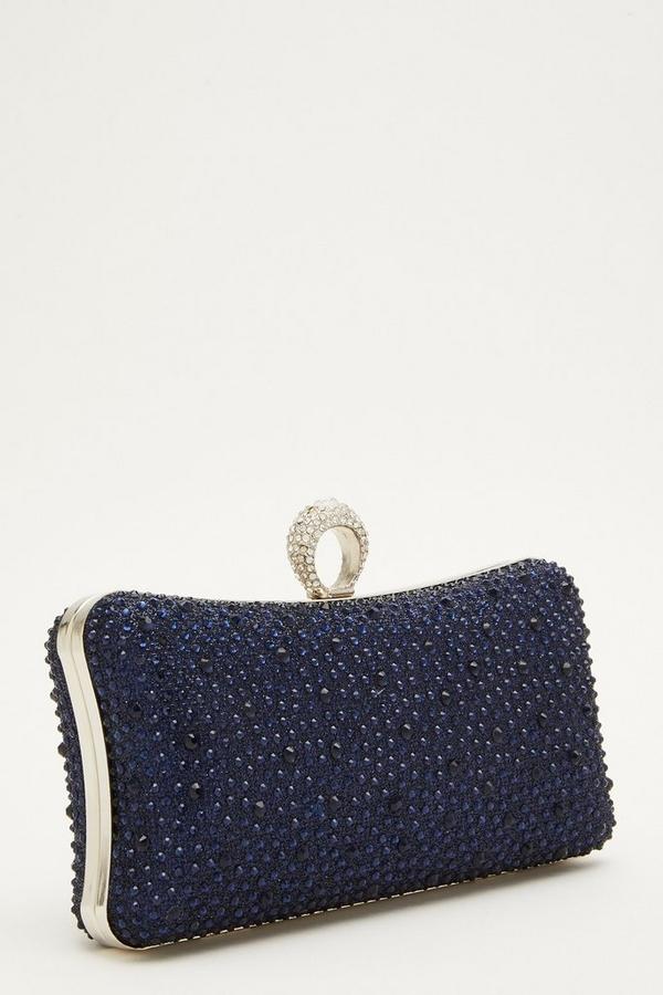 Navy Ring Box Bag