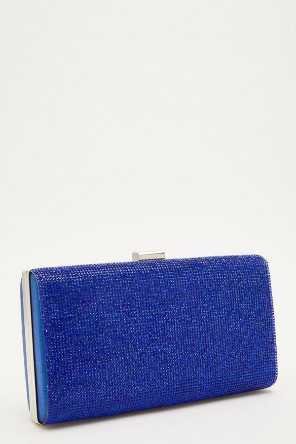 Blue Diamante Box Bag