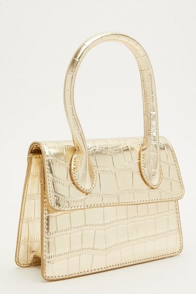 Gold Crocodile Mini Bag