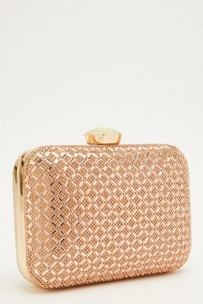 Rose Gold Embellished Box Bag
