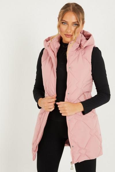 Pink Padded Gilet