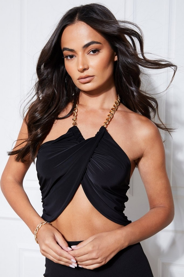 Black Chain Wrap Over Top