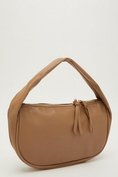 Camel Slouch Handle Bag