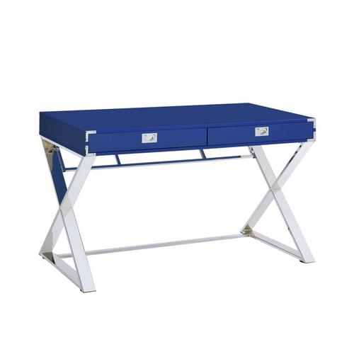Evie Desk in Glossy Blue