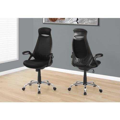 Office Chair - Black Mesh & Chrome
