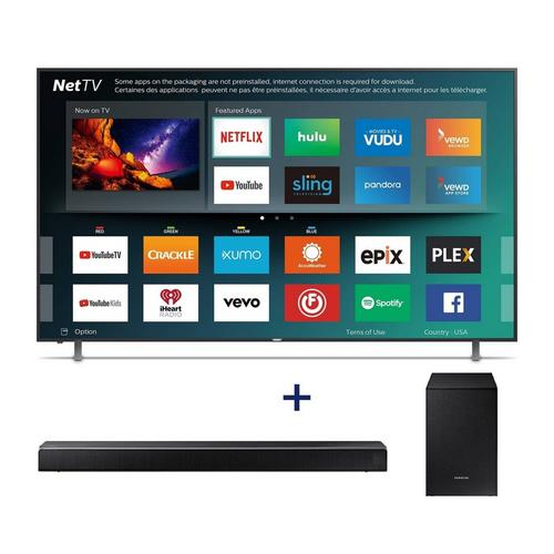 "75"" Class Smart 4K UHD TV & 320W 2.1Ch Sound Bar Bundle"
