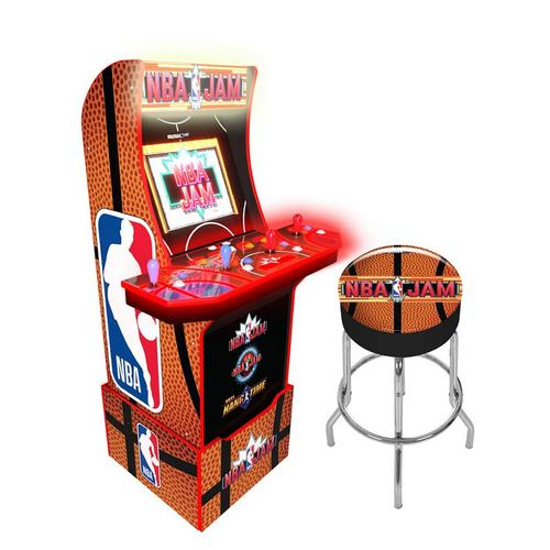 NBA Jam Arcade Game with Stool