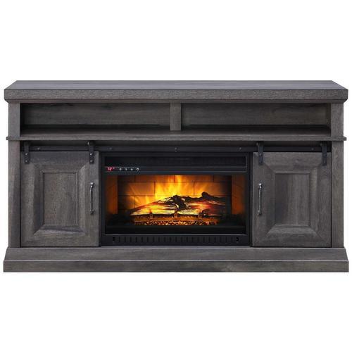 "60"" Barndoor Fireplace Console"