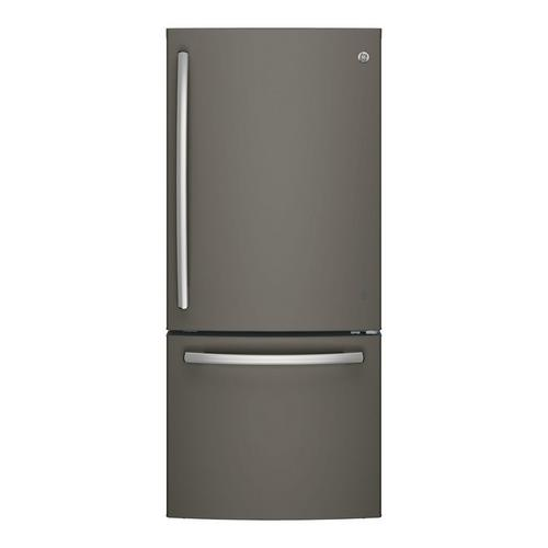 21.0 cu. ft. Energy Star Bottom Freezer Refrigerator - Slate