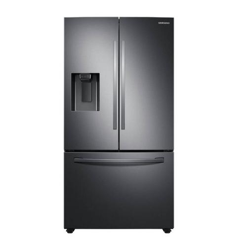 27 cu. ft. French Door Refrigerator - Fingerprint Resistant Black Stainless