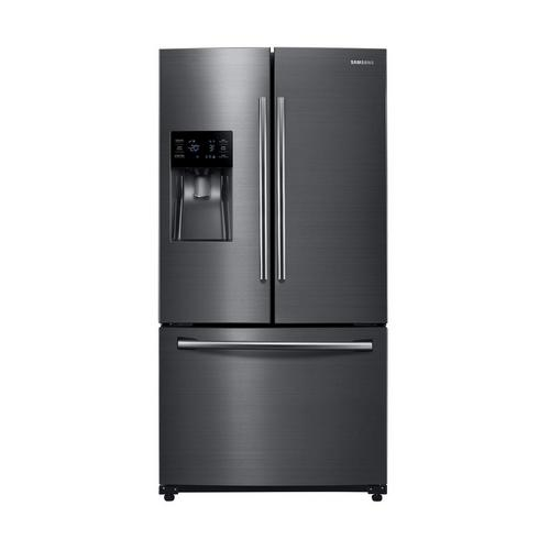 25 cu. ft. French Door Refrigerator with Ice and Water - Black Stainless